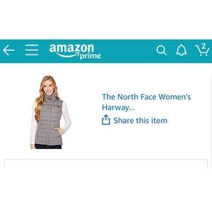 Women's grey north face vest